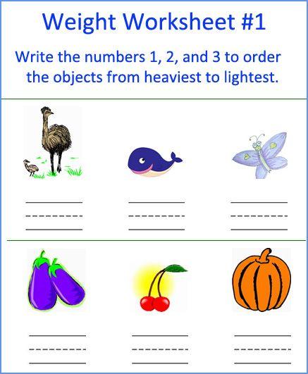 Free Kindergarten Measurement Worksheets Things Kindergarten