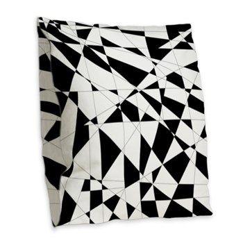 Shattered Life in Black & White Burlap Throw Pillows