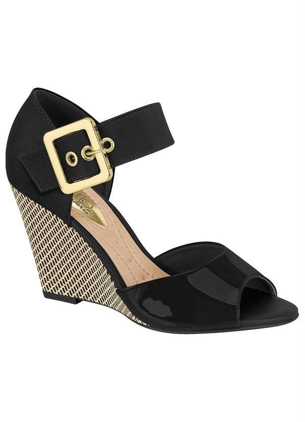 25352304e Sandália Anabela (Preta) Beira Rio | Shoes and Boots | Anabela ...