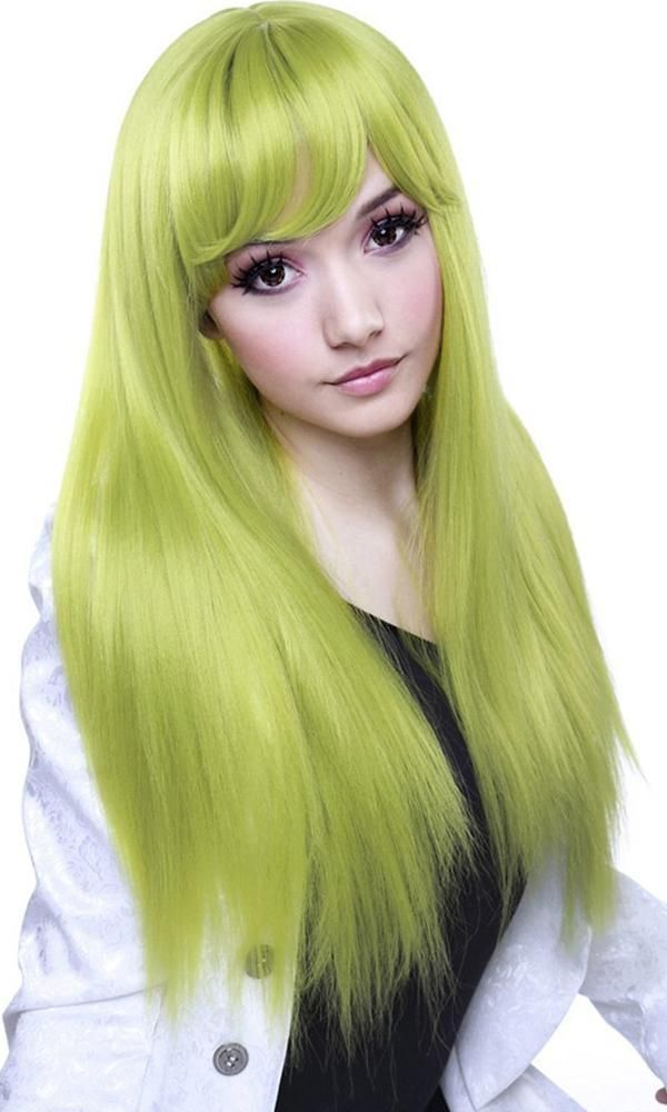 Bella Lime Green Chartreuse Wig Wedding Hair Inspiration Wig Hairstyles Wigs