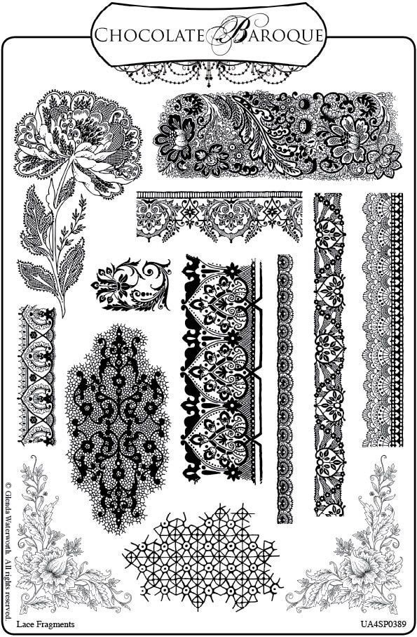 Crafty Flossie New Stamps And A Give Away Lace Drawing Lace Tattoo Sleeve Tattoos