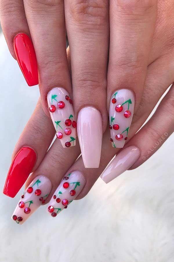 45 süße & stylische Sommernägel für 2019 - #amp #für #Sommernägel #Stylisc... - Cute nails - Derek