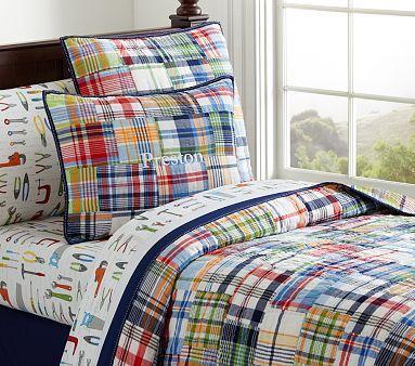Madras Quilt Big Boy Room Boys Bedding Sets Kid Beds