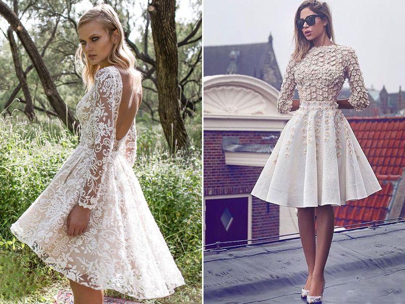 30 Modern Short Wedding Dresses For Summer Brides | Bridess ...