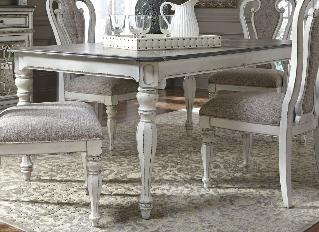 Tiphaine Extendable Dining Table Reviews Birch Lane Shabby