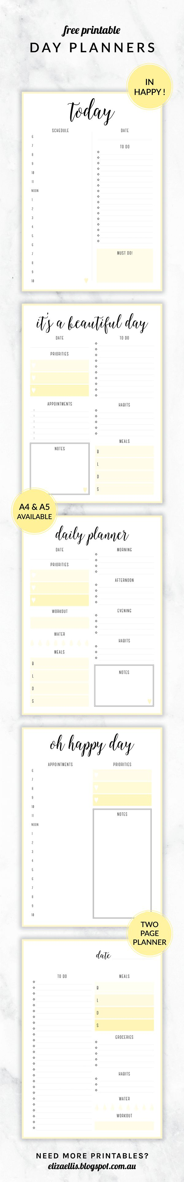 Free Printable Irma Day Planners   Different Designs Available