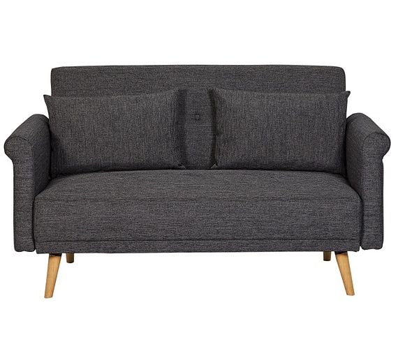 Buy Argos Home Evie 2 Seater Fabric Sofa In A Box Charcoal Sofas Charcoal Sofa Fabric Sofa Argos Home