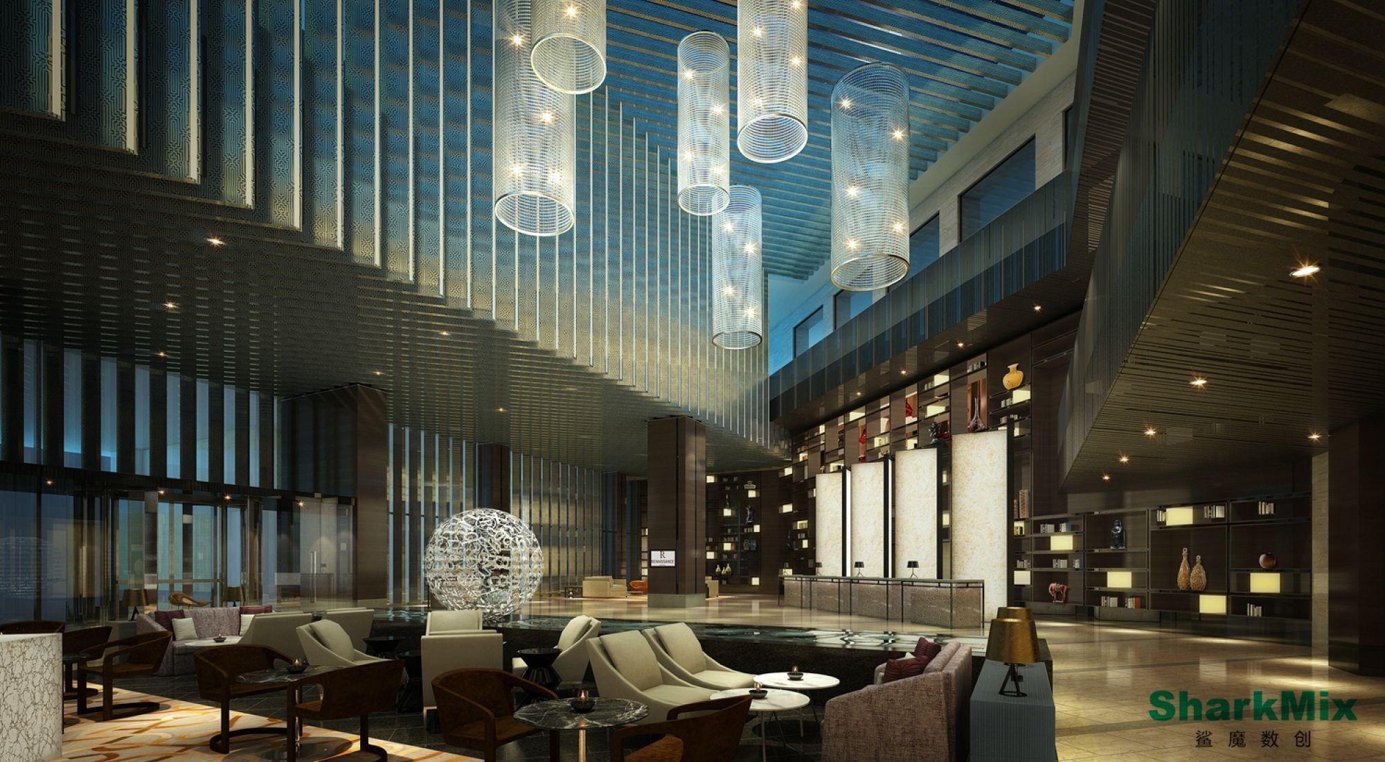 Hotel Lobby Rendering - Google Interior