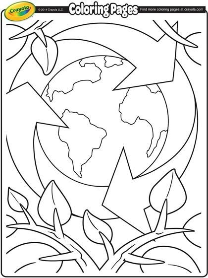Earth Day Recycling On Crayola Com Earth Day Coloring Pages Earth Coloring Pages Free Coloring Pages