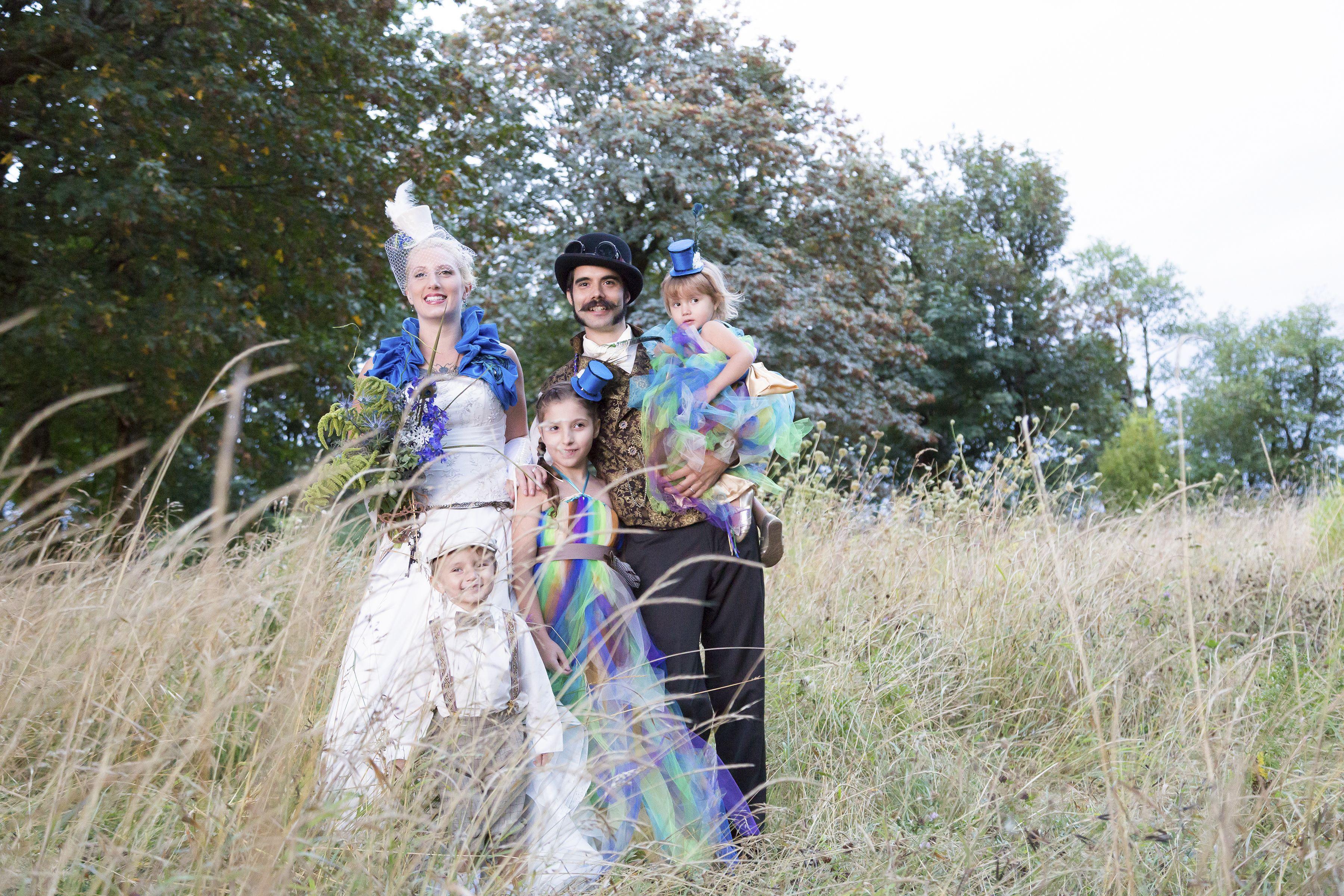Steampunk Wedding. With the Kiddos.