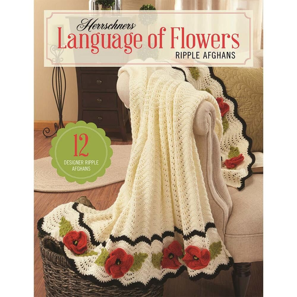 Herrschners language of flowers ripple afghans book crochet herrschners language of flowers ripple afghans book crochet patterns with poppy ripple afghan pattern 12 bankloansurffo Image collections