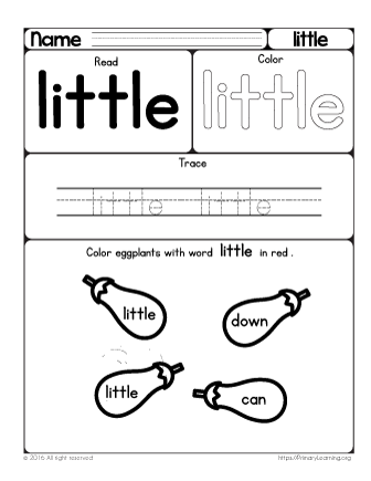 Does your child need more practice in reading sight words help her does your child need more practice in reading sight words help her learn the sight word little with this printable hands on worksheet ibookread PDF