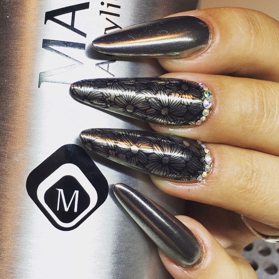 Magnetic Magic Chromes & Stamping Nail Art! By Joyce Laugesen ...