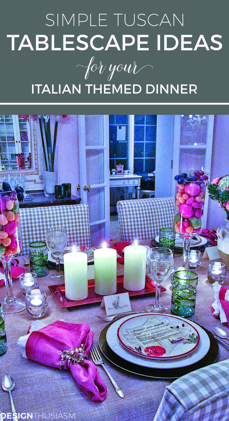 Tablescape Ideas Simple Tuscan Tablescape Ideas For An Italian Themed Party
