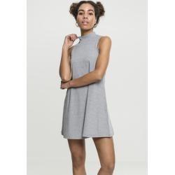 Urban Classics Ladies A-Line Turtleneck Dress grey Urban Classics