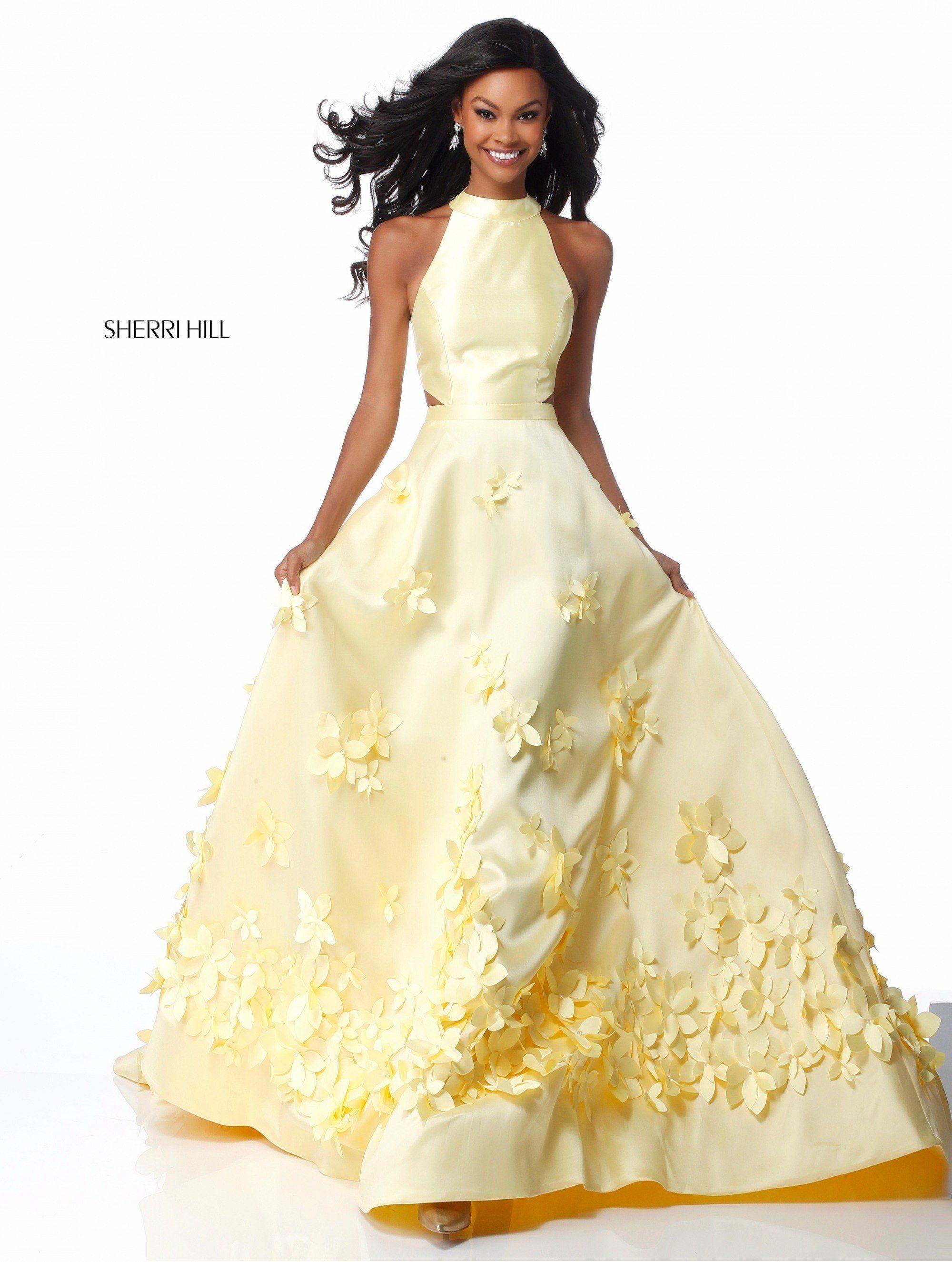 3dd13bd517e5 Sherri Hill 51116 Trendy Flower Petal Ball Gown in 2019 | HAUTE ...