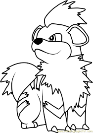 image result for pokemon coloring pages growlithe
