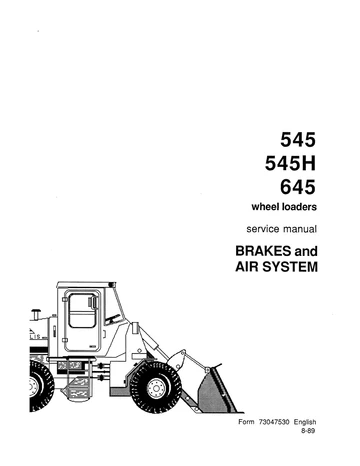 New Holland Fiat-Allis 545 545H 645 Wheel Loader Brakes