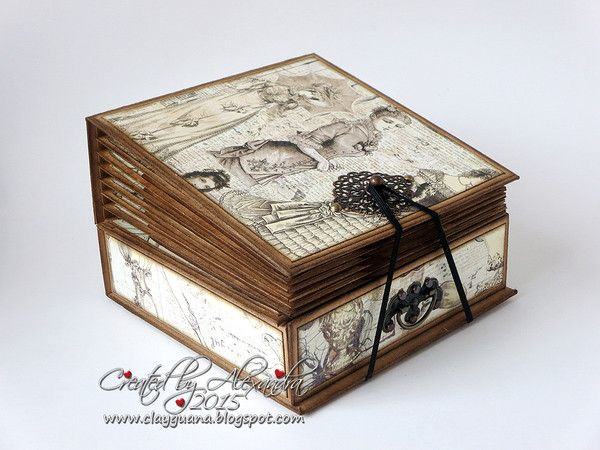 A Vintage Style Suitcase And Album With Drawer Kit Alexandra