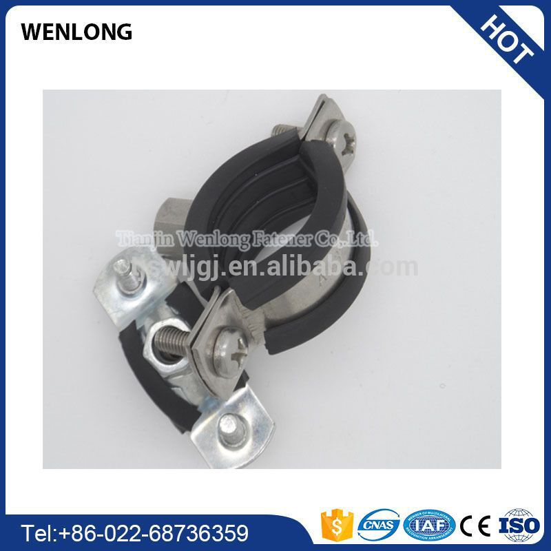 12mm flexible rubber vertical pipe lifting hose clamp
