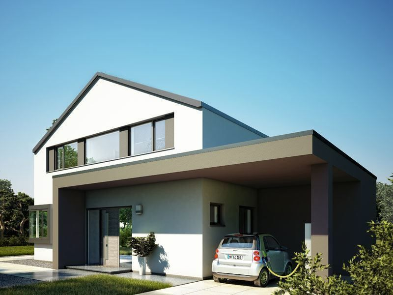 Moderne häuser satteldach mit garage  Pin von Maria Schiller auf Bauen | Pinterest | Hausbau grundriss ...