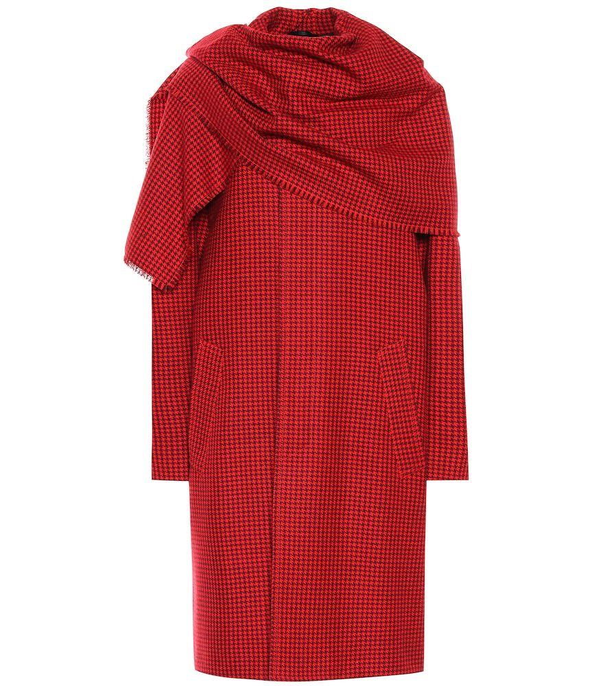 Virgin Wool Scarf Coat