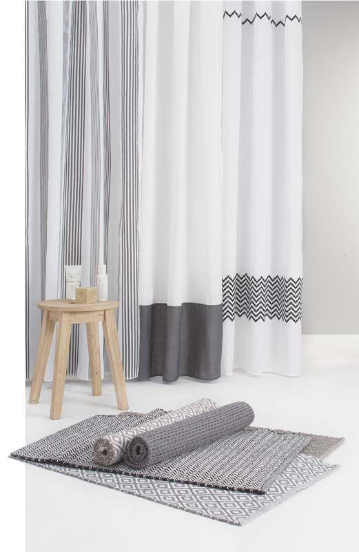 karwei | styl je badkamer af met een douchegordijn of een badmat, Hause ideen