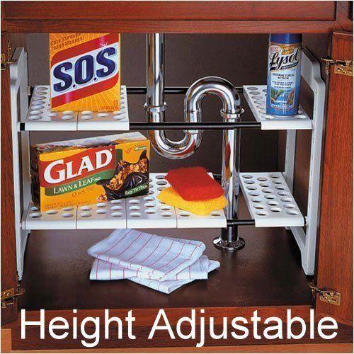 NEW Under Sink Expanding Expandable Kitchen Cupboard Storage Shelf Organiser