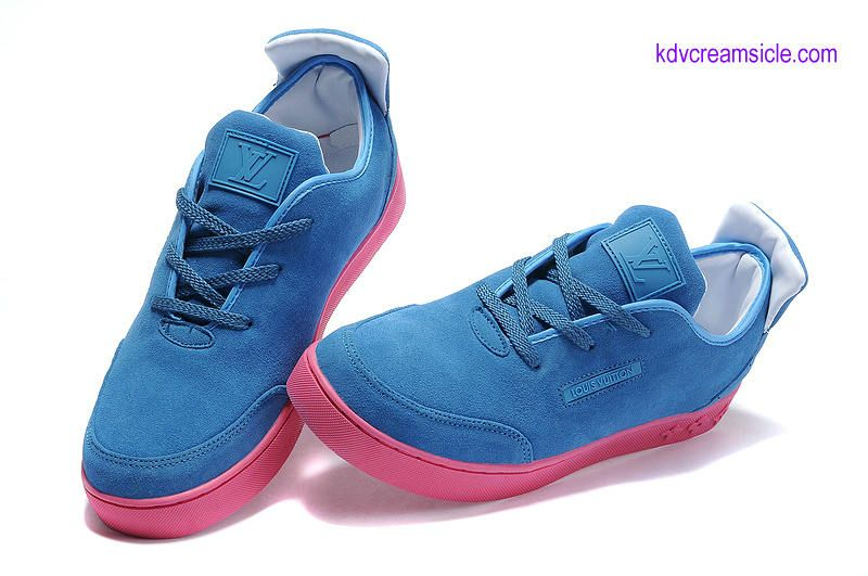 4a2ec05eb1a86 Cheap Kanye West Louis Vuitton X Mr Hudson Boat Cream Blue Pink ...