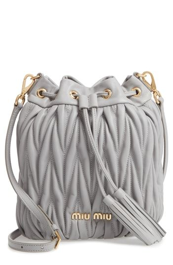 Miu Miu Matelassé Lambskin Leather Bucket Bag  0744f6041c47e