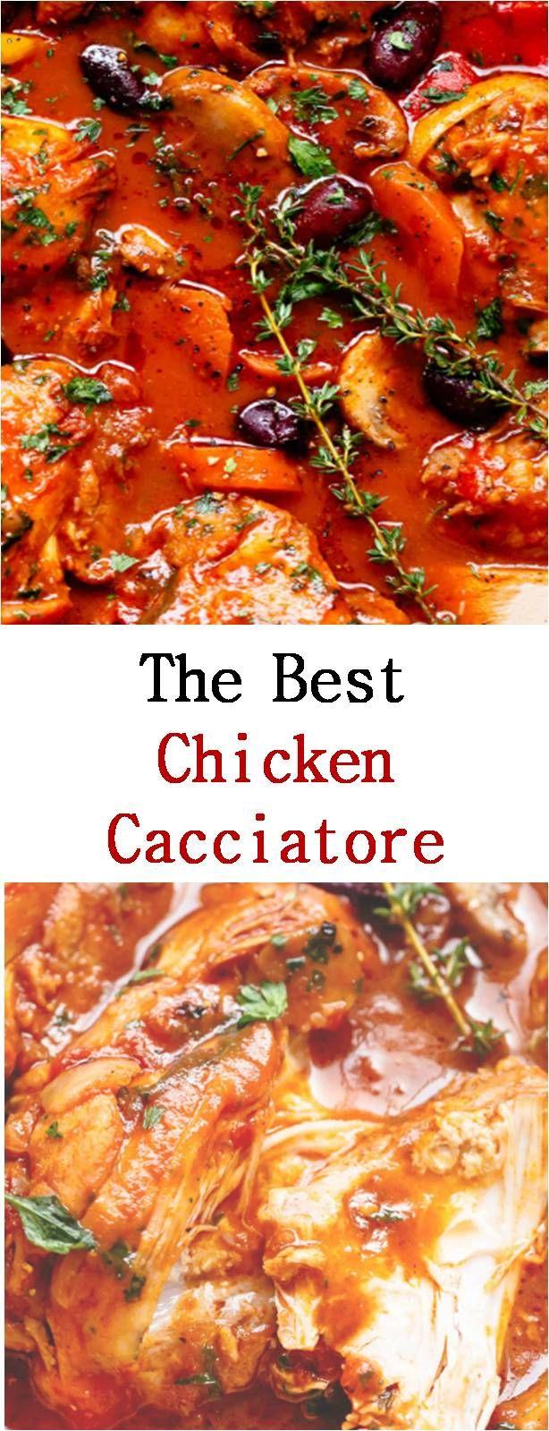 The Best Chicken Cacciatore Recipe Chicken Cacciatore Recipe Cacciatore Recipes Chicken Cacciatore