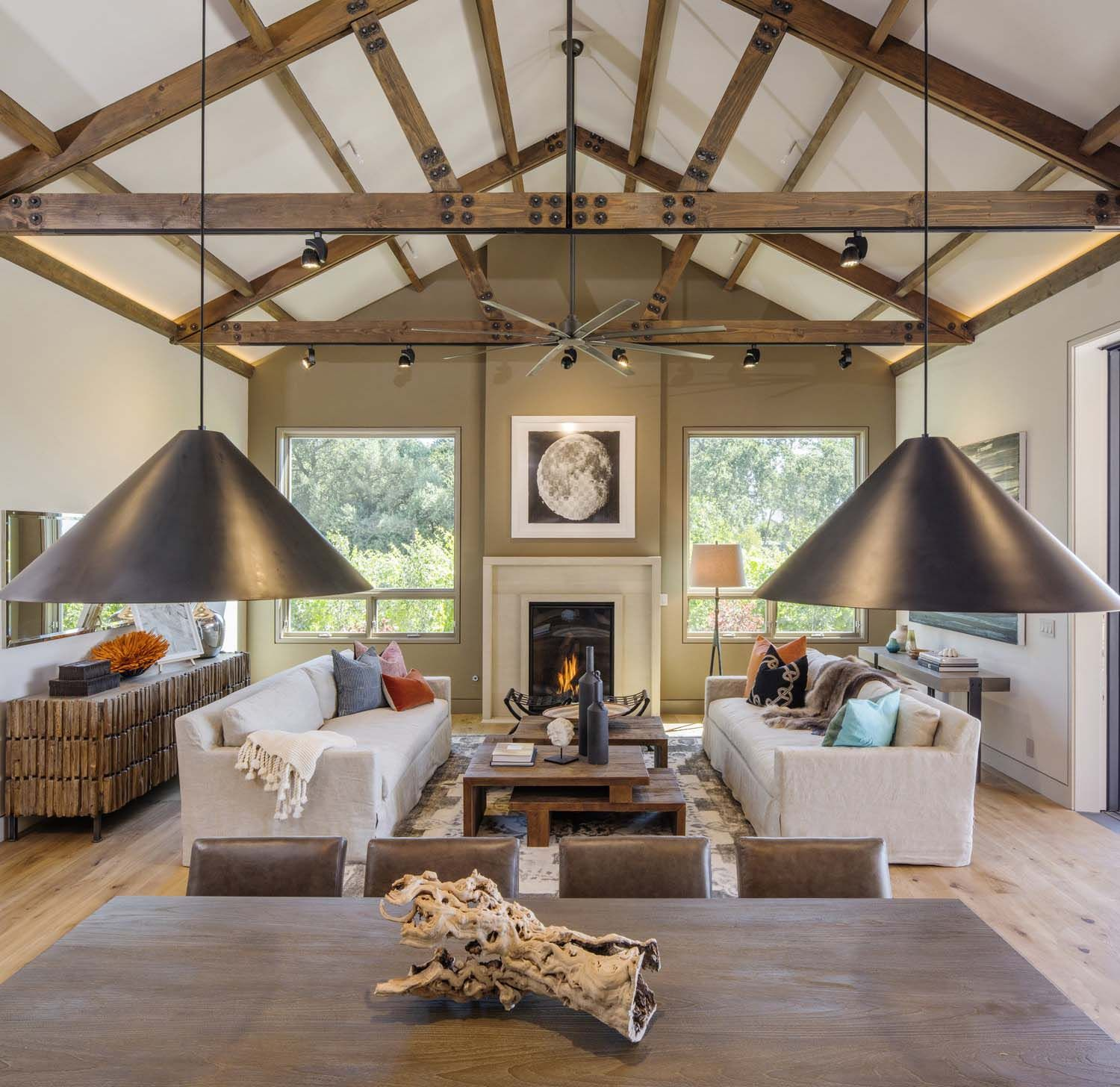 Napa Valley Home Decor: Dreamy Modern Farmhouse Style Invites Indoor-outdoor