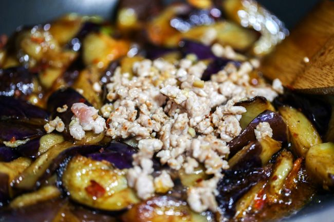 Chinese eggplants with ground pork-8 copy | Chinese eggplant. Recipes. Food