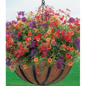 Patio Garden Hanging Flower Baskets Outdoor Garden Planters
