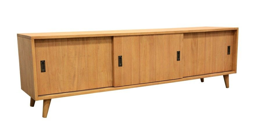Buffet Hevea 3 Portes 3 Tiroirs 150x45x85cm Olga Furniture Decor Buffet