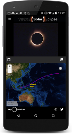 Explore Total Solar Eclipse Our First Mobile App That - Micronesia interactive map