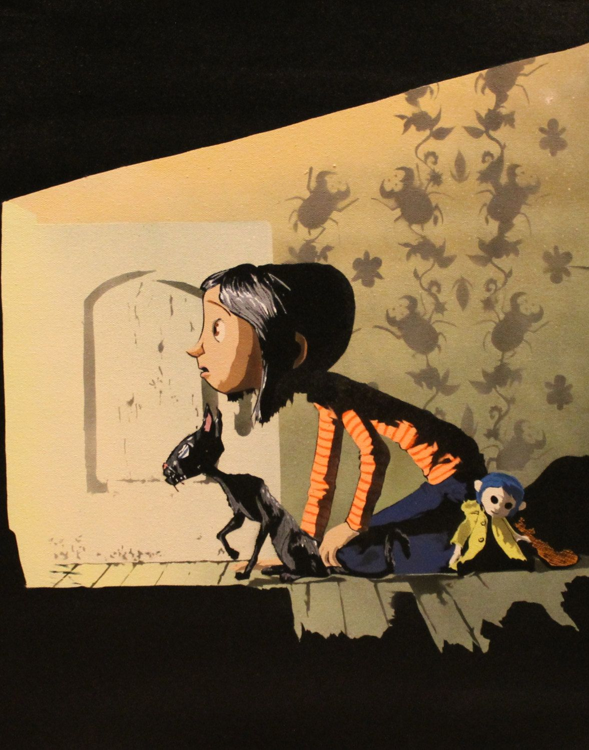 The Film That Taught Me That Doors Are Locked And Bricked Up For A Reason Coraline Coraline Art Coraline Jones