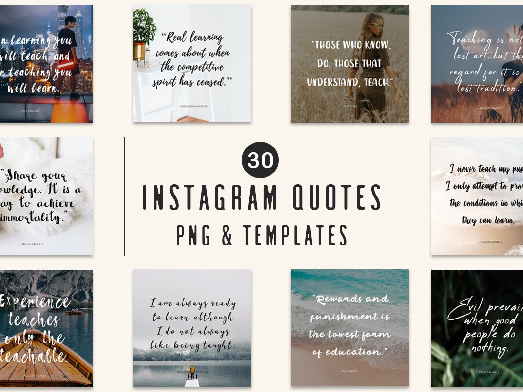 30 Free Instagram Quotes Templates Quote Template Free