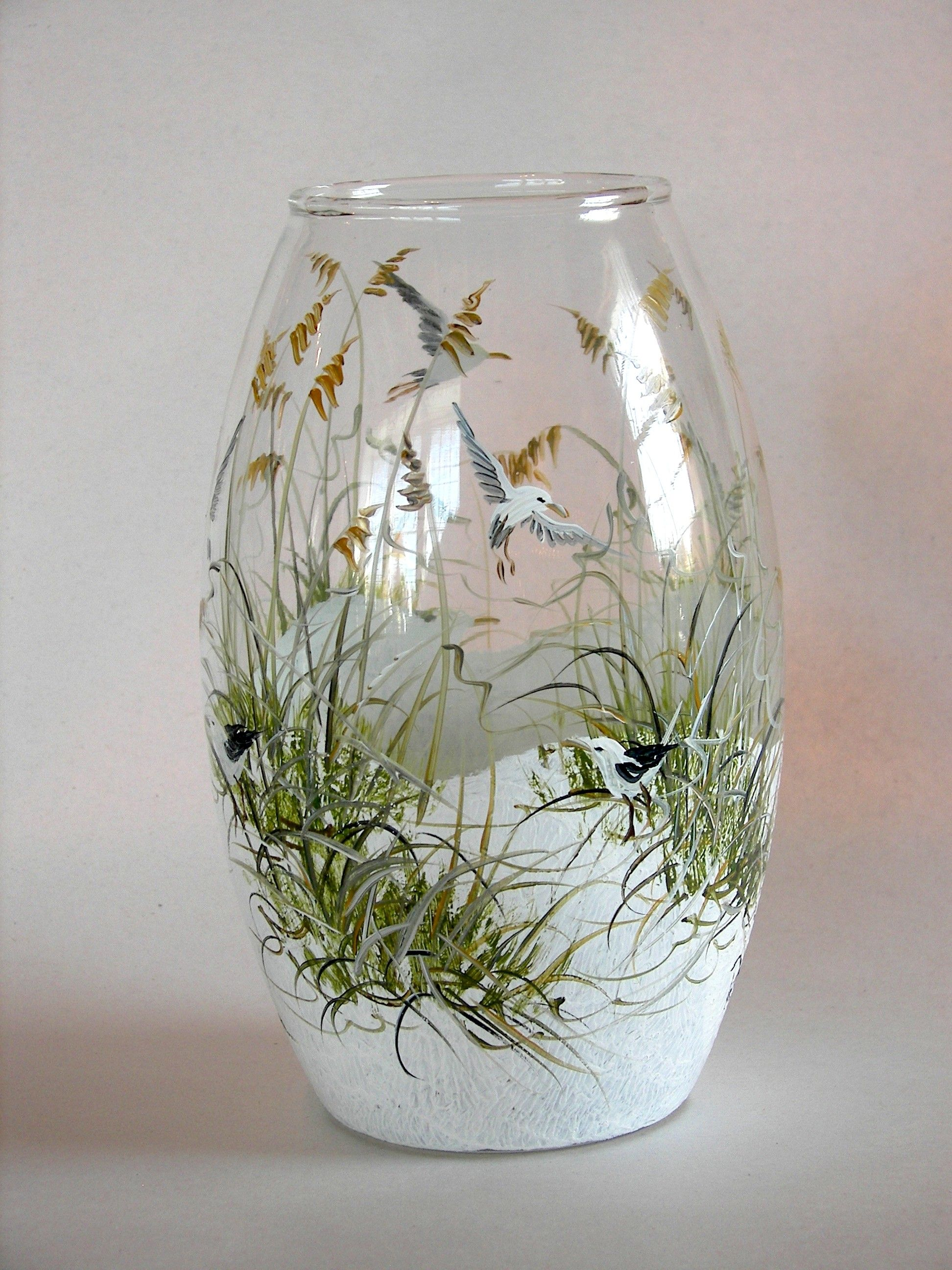 Wine glass beach scene bing images summer paintingcricut glass vase with beach scene add some sand a few pebbles a small piece of driftwood from your favorite beach reviewsmspy