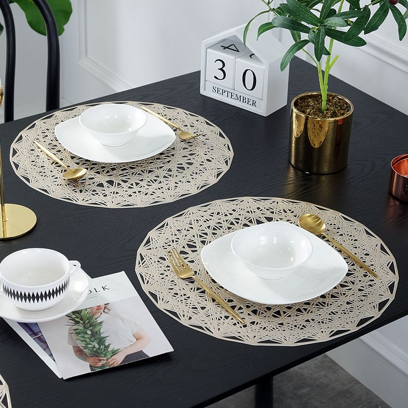 Custom Round Vinyl Placemats Wholesale Colourful Round Dining Table Mats Manufacturer Dining Table Placemats Placemats Buy Table