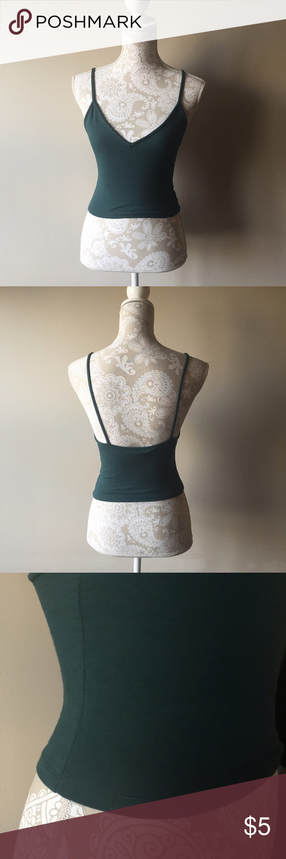 Brandy Melville dark green Joanne tank In very used condition. There is some minor pilling all over the shirt and the hem has unraveled on the bottom. Priced accordingly. 💎all $5 items are 5 for 15💎 💎add items to bundle💎 💎send offer for $15 and I will accept💎 💎20% off bundles on all other items💎 Brandy Melville Tops Tank Tops