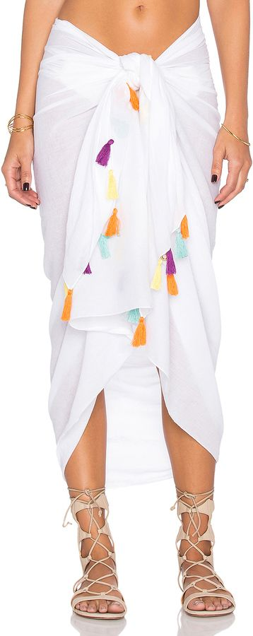 OndadeMar Tassel Kimono #white #colorful #boho #tassel #kimono #coverup #swimsuit #fashion