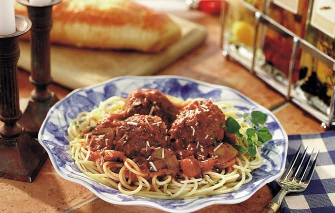 Grandma's Italian mother made the most distinctive meatballs—they were very big, and everyone got just one.