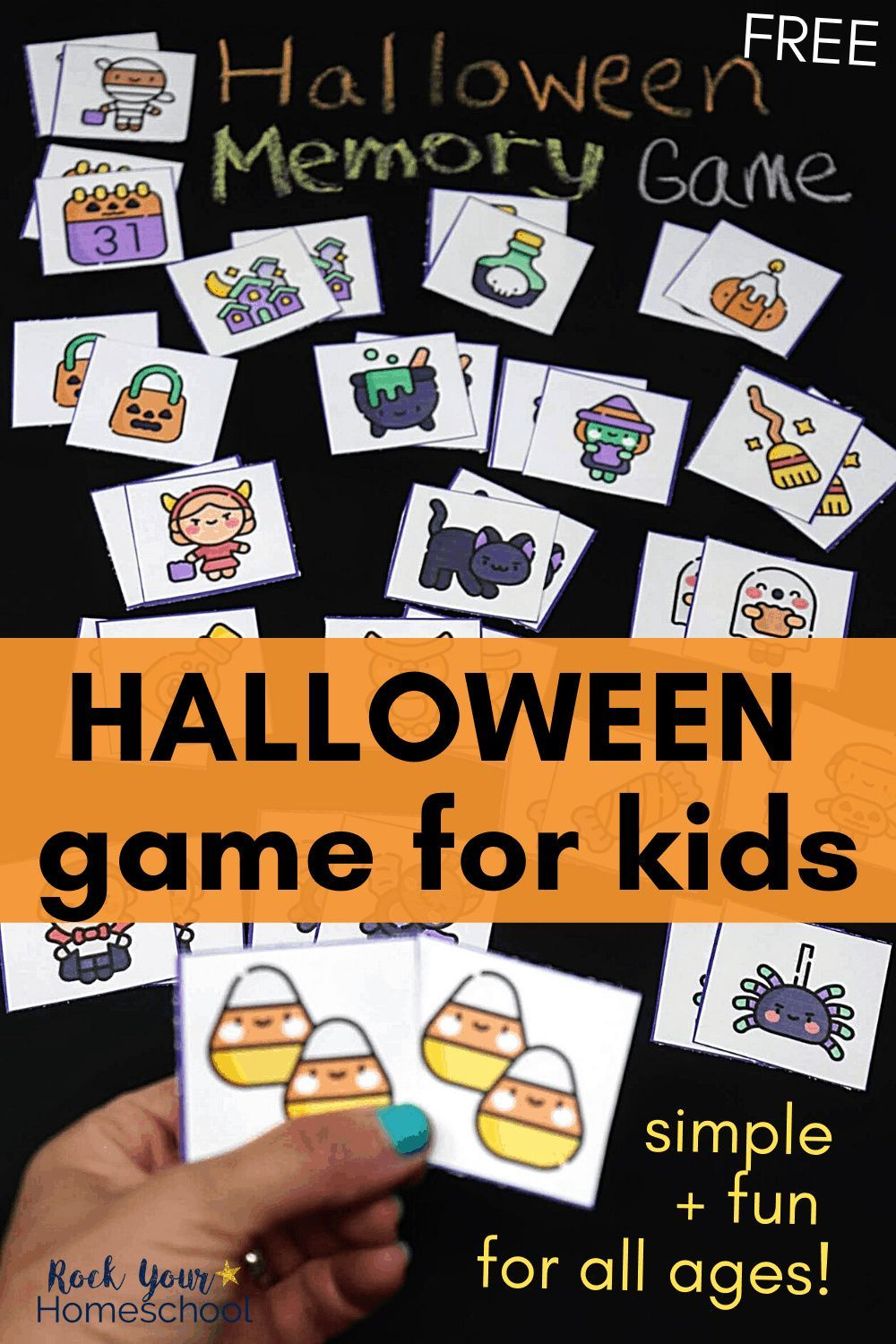 Free Halloween Memory Game for Simple Holiday Fun in 2020