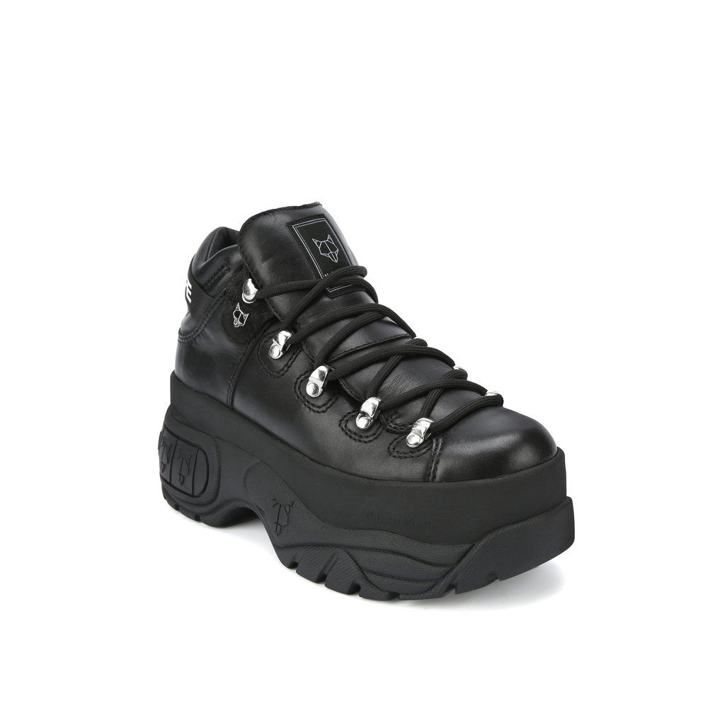 Sprinter Black Leather Shoe | Editorial Boutique