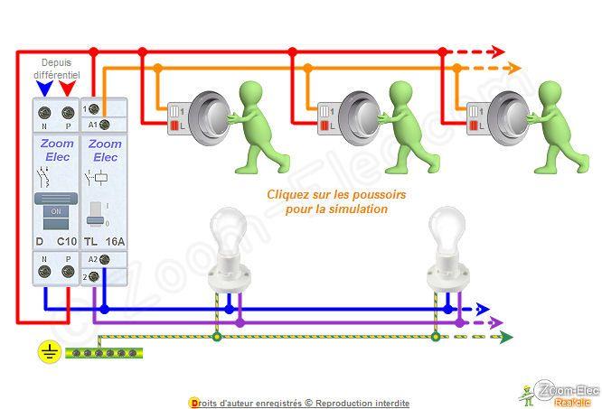 Schema telerupteur branchement elec Pinterest Electro music - Schema Tableau Electrique Maison