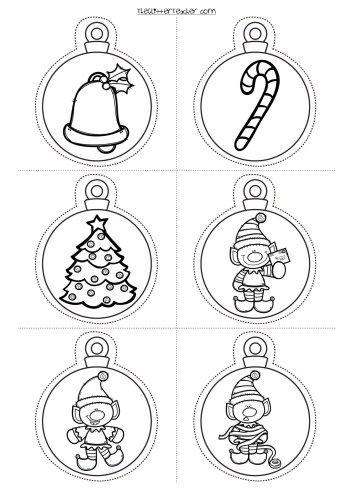 Decora tu clase divertidas bolas de navidad para imprimir - Bolas de navidad para ninos ...
