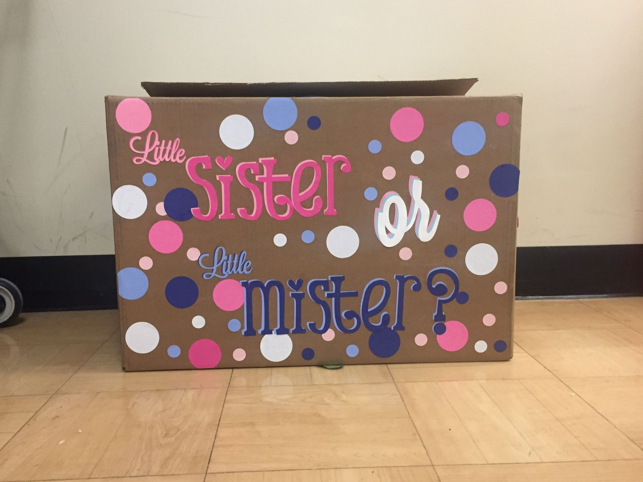 Gender Reveal Box Gender Party Ideas Pinterest Bebe