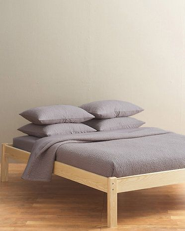 Portland Platform Bed. Style is nothing special, although the blond ...