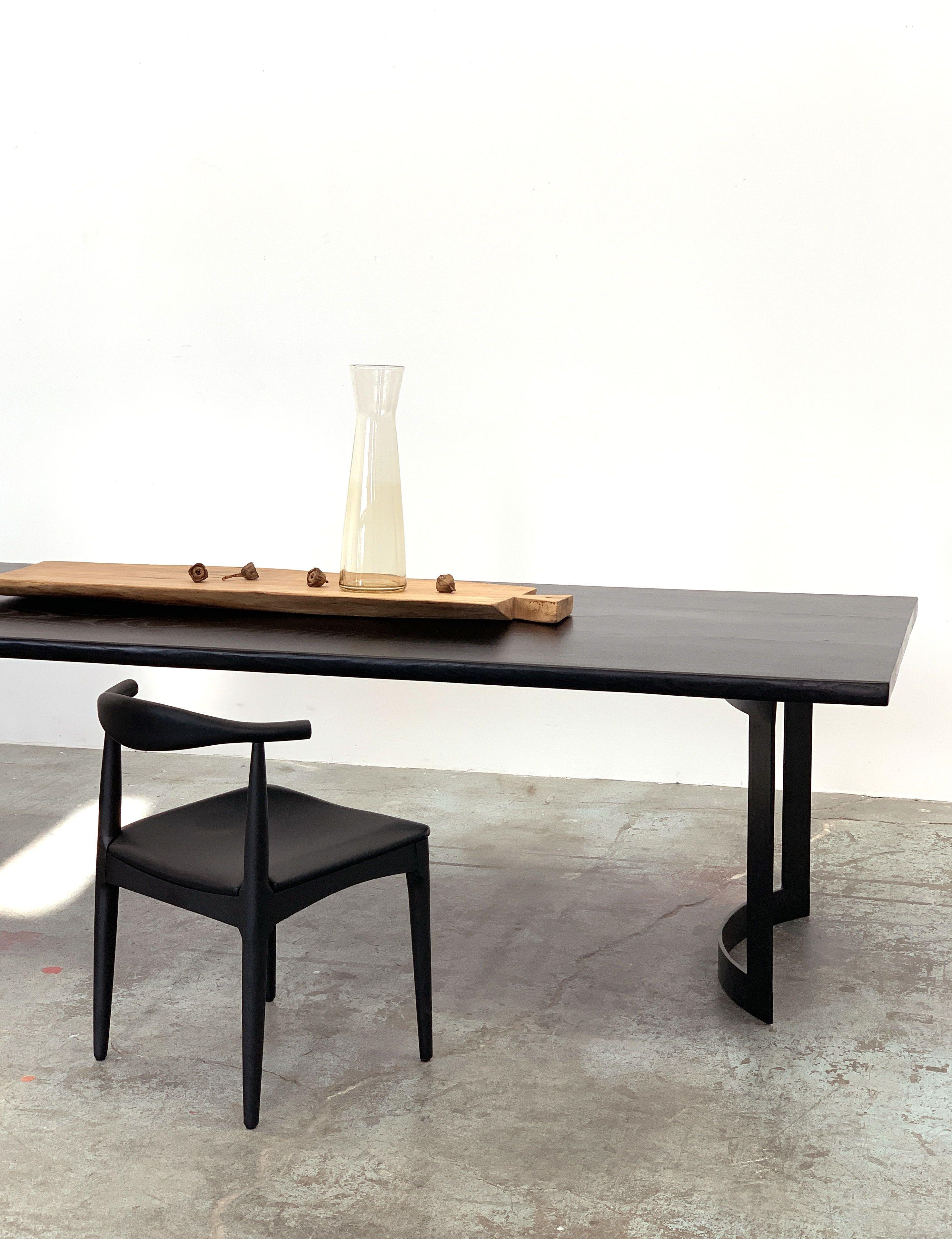 Copenhagen Chair Black Ash Live Edge Dining Table Dining Table Black Modern Dining Table